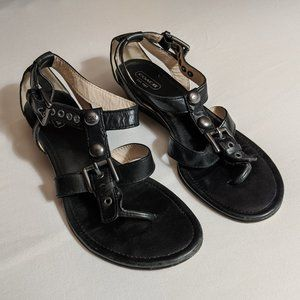 COACH Viktoria Leather Thong Sandals